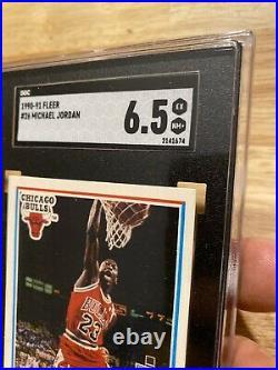 Michael Jordan SGC 6.5 Collector Card Man Cave Fleer #26 Last Dance INVEST 1990