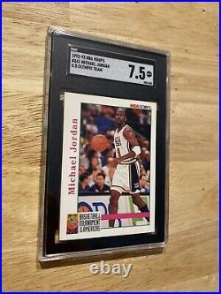 Michael Jordan SGC 7.5 NM 1992 Olympics Team Hoops #341 Last Dance INVEST Hedge