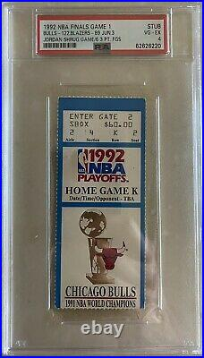 Michael Jordan Shrug Game Ticket Stub 1992 Game 1 Nba Finals6 3pt Fgpsa 4