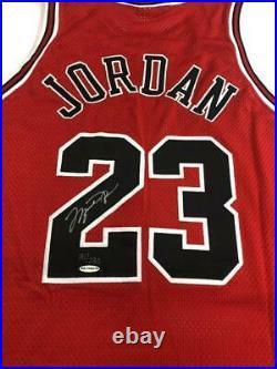 Michael Jordan Signed Bulls LE Jersey with Final Game Floor Piece (UDA COA)