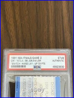 Michael Jordan Swtich Hand Lay-Up 1991 NBA Finals Game 2 Ticket Stub Bulls