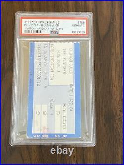 Michael Jordan Swtich Hand Lay-Up 1991 NBA Finals Game 2 Ticket Stub Bulls PSA