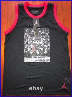 Michael Jordan The Last Shot Photo Mesh Jersey Air Jordan Brand Nike Last Dance
