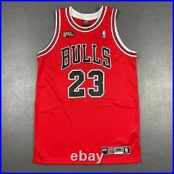 Michael Jordan Vintage Nike 97 98 Finals Chicago Bulls Jersey Size 44 L Mens