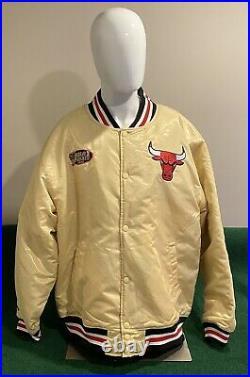 Mitchell & Ness NBA Chicago Bulls 1998 Finals Championship Satin Jacket Sz 3XL