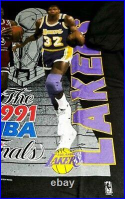 NOS 1991 NBA-FINALS JORDAN Bulls v Lakers Championship T-Shirt Sz. M NBA Merch