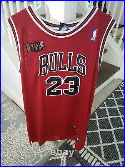 NWT Michael Jordan #23 Chicago Bulls 1998 NBA Finals Red Jersey XL 52 Last Dance