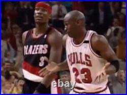 Nba Finals FULL 1992 Michael Jordan 35 Pts 1st Half TICKET Bulls Shoulder Shrug