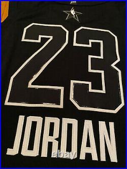 Nike 2018 Los Angeles All Star Michael Jordan Black Bulls Authentic Last Dance
