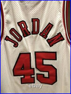 Nike 8403 Chicago Bulls Jordan 45 Jersey Sz Large The Last Dance Rare Lot