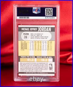 PSA GEM MINT 10 1990 Fleer Michael Jordan #26 Bulls HOF Last Dance PERFECT