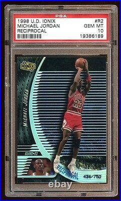 Pop 4 Michael Jordan 1998 Ud Ionix #d /750 Reciprocal Bulls The Last Dance Hof