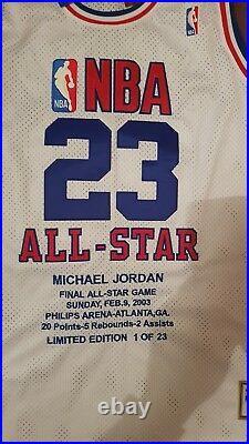 RARE MICHAEL JORDAN FINAL ALL STAR GAME 1 of 23 HARDWOOD CLASSICS MITCHELL &