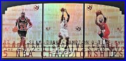 RARE Michael Jordan = (The Last Dance) 1997-98 UD3/MJ3, 3-Card SP Die-Cut Set