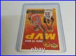 Rare 1992 Upper Deck Last Dance MVP Michael Jordan #23 Basketball Card