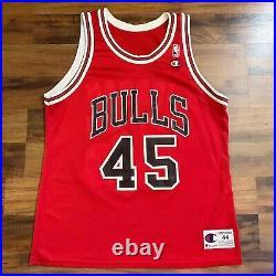 Rare Michael Jordan # 45 Chicago Bulls Champion NBA Jersey Sz 44 The Last Dance