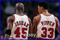 Scottie Pippen Chicago Bulls Home Pro Cut Game Jersey Michael Jordan Last Dance