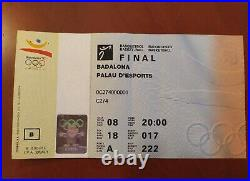 Ticket Final Gold Medal USA vs CROATIA Olympic Games92 Basketball Michael Jordan
