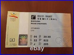 Ticket Semi-final USA vs LITHUANIA Olympic Games 92 Basketball Michael Jordan