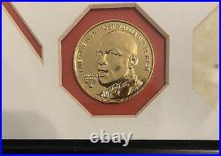 Upper Deck Highland Mint Michael Jordan Final Shot Photo & Gold Coin 367/500