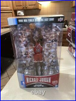Upper Deck Pro Shots Michael Jordan 1998 NBA Finals Winning Last Shot Figure NM+