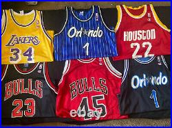 VTG NBA Champion Jersey Lot 6! Mens Size 44 Jordan, Kobe The Last Dance NWOT
