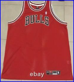 VTG NIKE Chicago Bulls 97-98 Red Pro Cut BLANK Jersey Sz 56 Last Dance jordan
