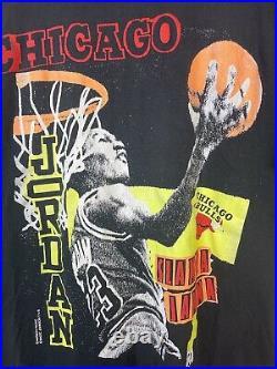 Vintage 90s Michael Jordan Last Dance Chicago Bulls NBA tee shirt size xl