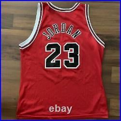 Vintage Champion Michael Jordan Chicago Bulls Jersey Sz 44 The Last Dance Era