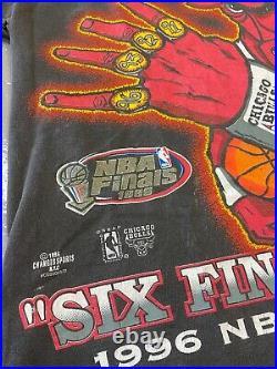 Vintage Chicago Bulls 1996 NBA Champions Shirt Large Michael Jordan Last Dance