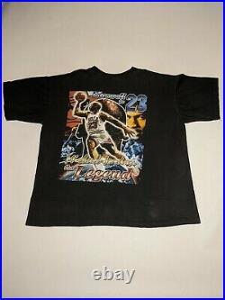 Vintage RARE Michael Jordan CHICAGO Bulls 90s RAP TEE Shirt LAST DANCE sz XL