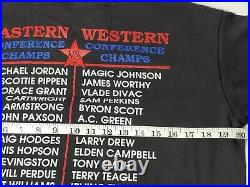 Vintage Salem 1991 NBA Finals Shirt Jordan Magic Sz L Lakers Bulls single stitch