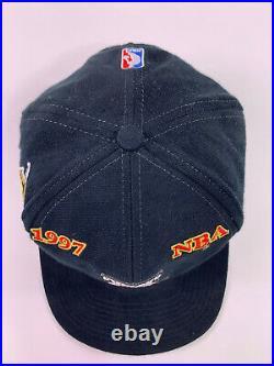Vtg Chicago Bulls 1997 Championship Locker Room Cap Hat Last Dance JORDAN Logo 7